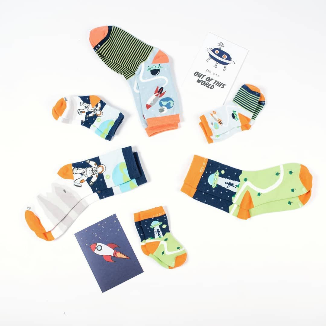 Twin With Your Kids These Socks Are Made Of 100 Organic Cotton Available In Kids And Adult Sizes Organic Baby Clothes Kids Wardrobe Kids Fashion