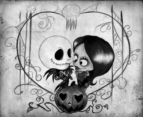 A little cartoon of Sally and Jack