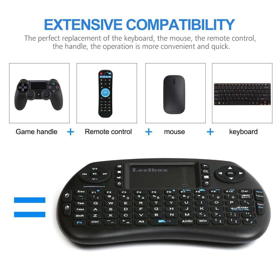 9e0fb1ab6e9 Leelbox 2.4Ghz Mini Wireless Keyboard with Mouse Touchpad Rechargeable  Combos for PC Pad Android TV Box *** See this great product.