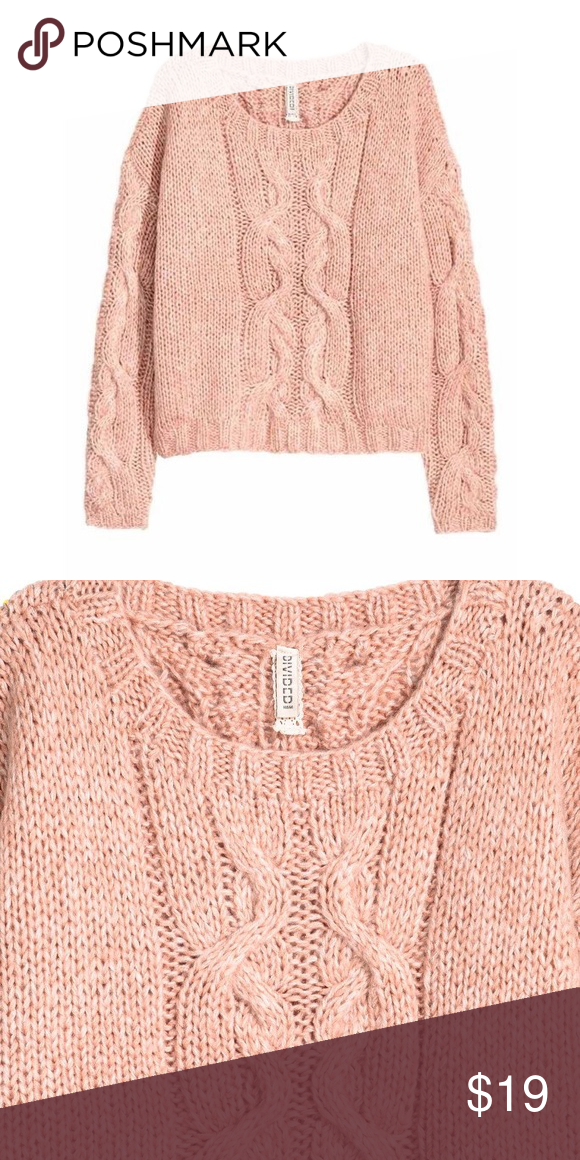 0d40cc63532d Baby Pink Super Soft Chunky Cable Knit Sweater