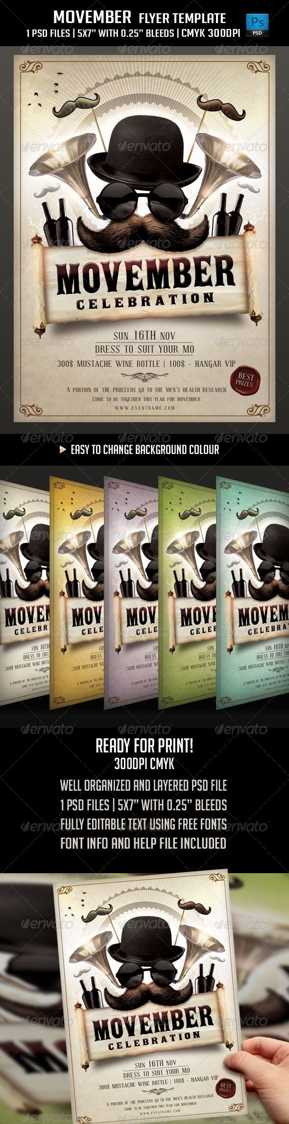 Movember Flyer Template  Graphicriver Movember Flyer