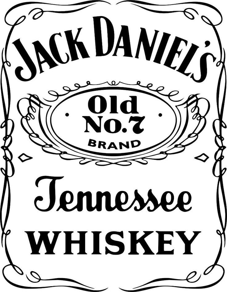 Blank Jack Daniels Label Template 7 Templates Example Templates Example Jack Daniels Wiski Stensil