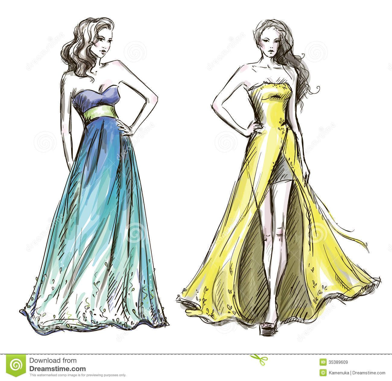 Fashion Drawings Dresses Google Search Art Fashion