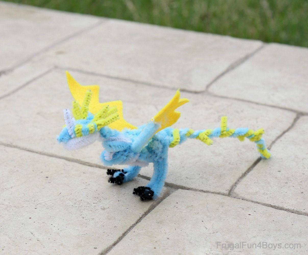 Image result for felt and pipe cleaner dragons