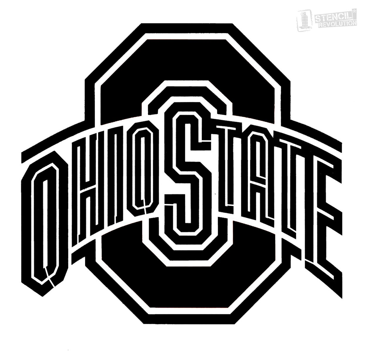 4 Inch Baseball Logo OSU Ohio State University Buckeyes Removable Wall Decal Sticker Art NCAA Home Decor 4 Inches