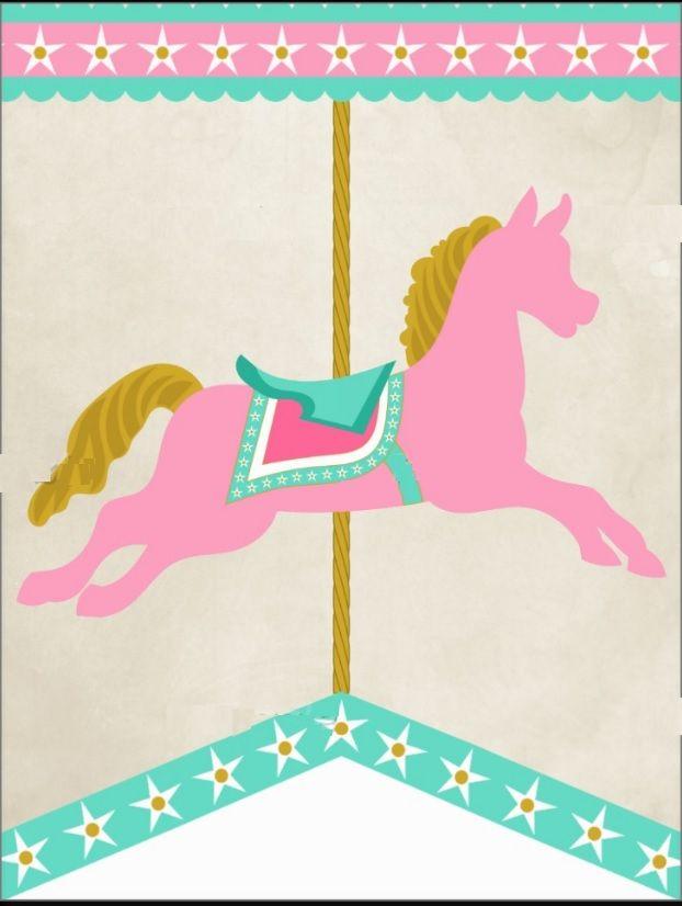 vintage carousel | circo y cine | Pinterest | Carrusel, Banderin y ...