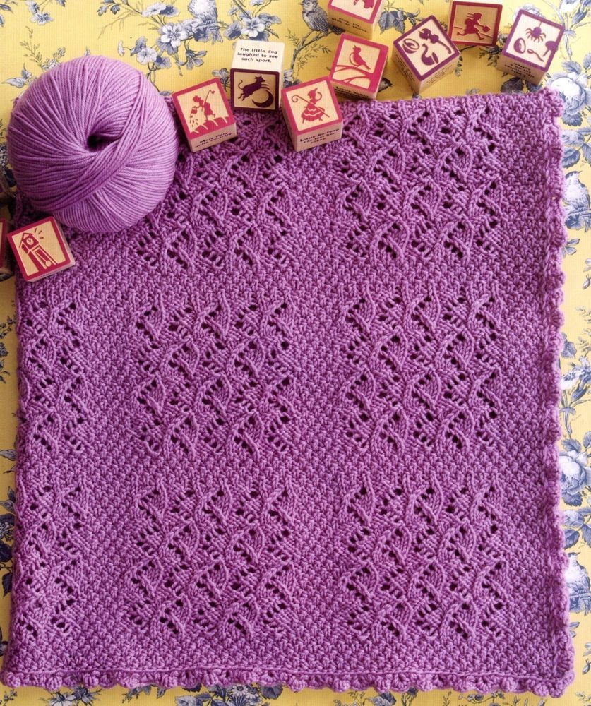 171 knitting pattern for baby lavender lace blanket knitting 171 knitting pattern for baby lavender lace blanket bankloansurffo Choice Image