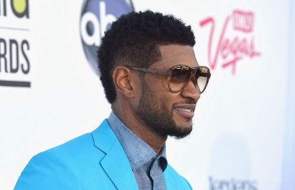 Nice Usher Mohawk Fade Haircut Style For Black Guys