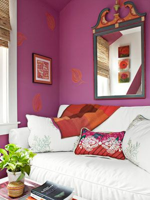 I want colored walls like these in one of the rooms of the house ...
