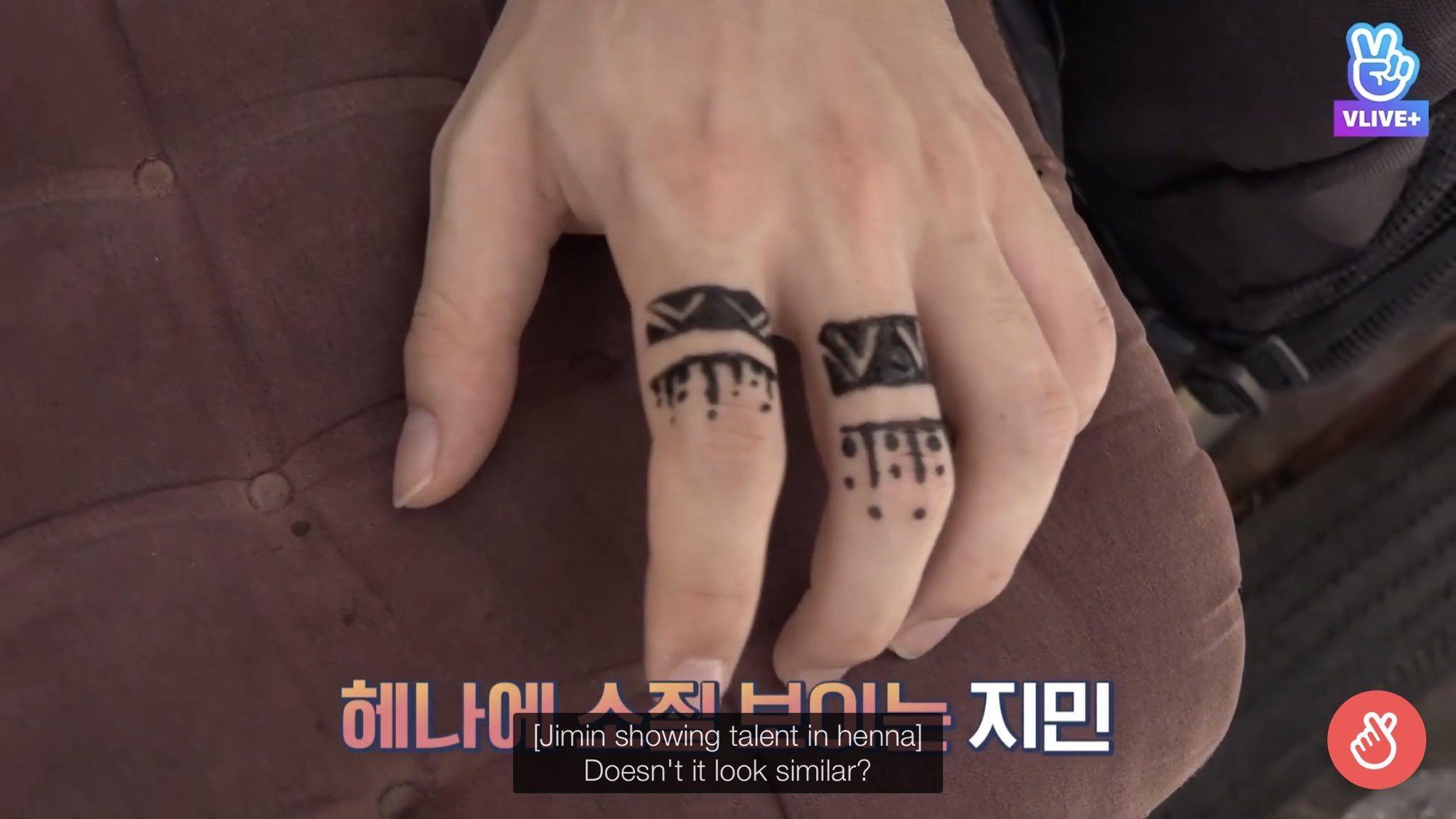 Jimin henna tattoo 🤗 Hena tattoo, Hand tattoos, Tattoos