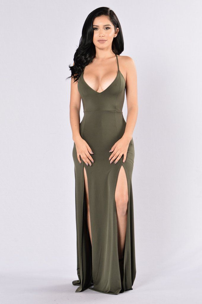 37a7355f6d0 Dream of Me dress in olive by FashionNova