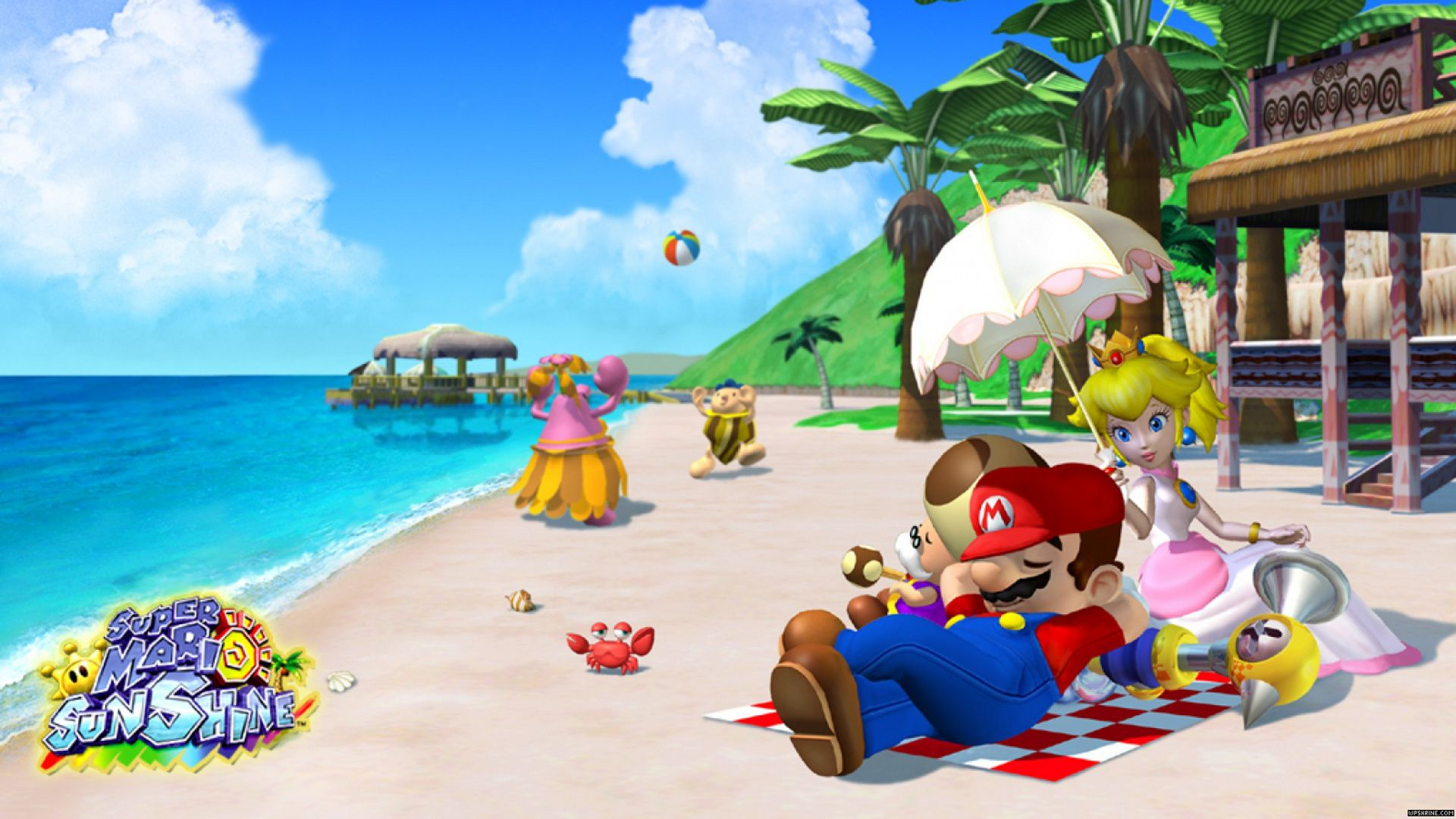 4 Super Mario Sunshine Hd Wallpapers Backgrounds Wallpaper Abyss Super Mario Sunshine Super Mario Bros Mario Bros