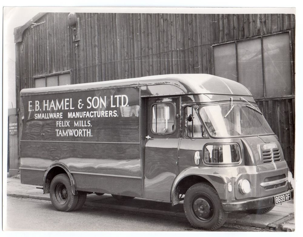 Original Photograph Of Vintage Van E B Hamel Son Tamworth