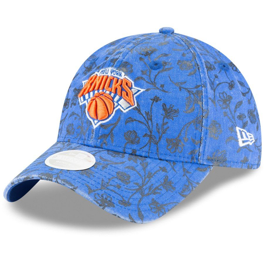 f1040e67137fec ... clearance womens new york knicks new era blue floral peek 9twenty  adjustable hat your price 23.99
