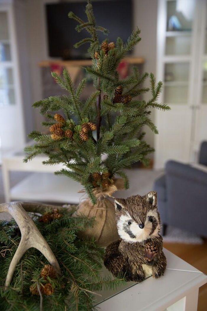 Pine Tree Raccoon From A Woodland Baby Shower Via Kara S