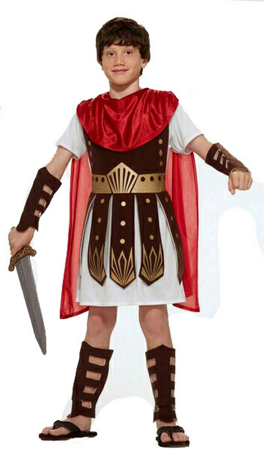 Roman Soldier  Warrior Child Costume For Fancy Dress Book Week Party