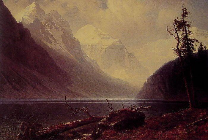 Lake Louise, huile sur toile de Albert Bierstadt (1830-1902, Germany)