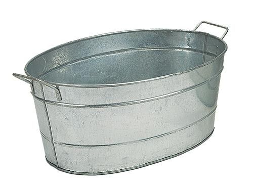 Galvanized Steel Tub Oval Perfect For Holding Wood For Your Fireplace Grains For Your Farm Or Ice And Beverages For Your P With Images Metal Tub Steel Tub Beverage Tub