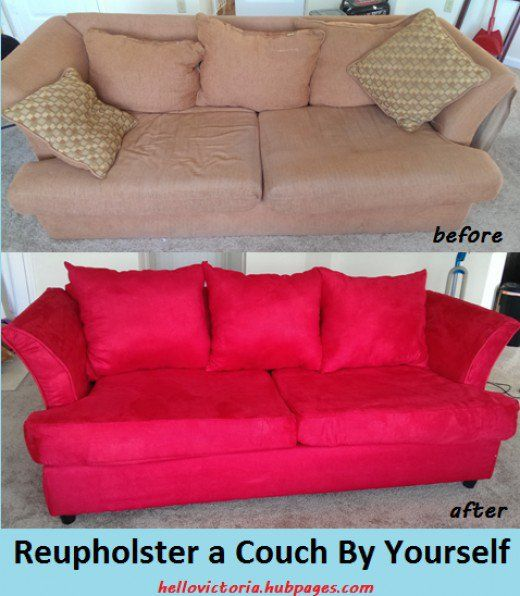 A Beginner S Guide To Reupholstering A Couch Step By Step Upholstered Couch Diy Sofa Reupholster Furniture