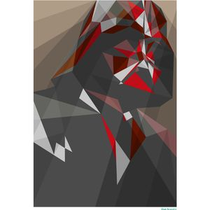 Star Wars Darth Vader Inspired Illustrative Art Print - 11.7 x 16.5 Inches: Image 1