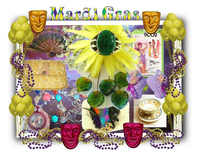 Mardi Gras by sabine-promote on Polyvore featuring Mode and Masquerade