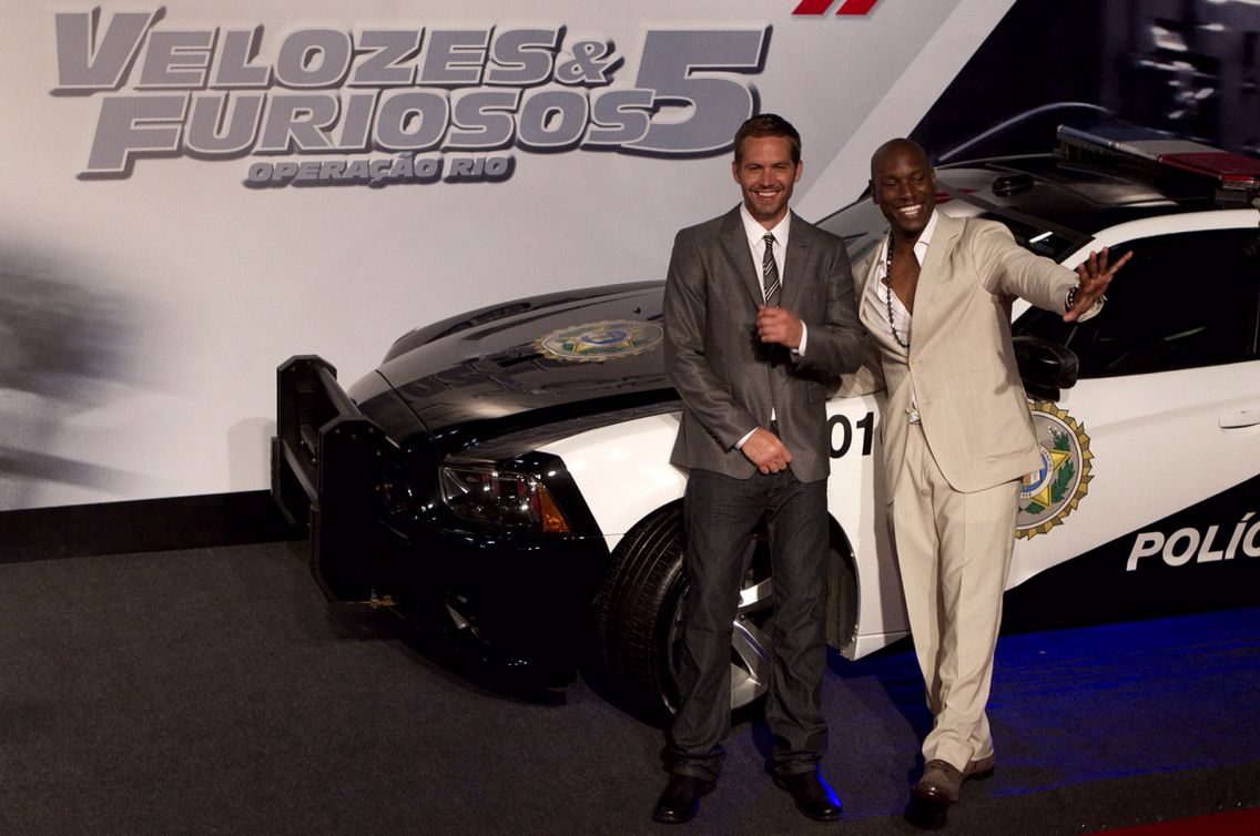 Paul and Tyrese at FF5 Rio Premiere, 15th April 2011
