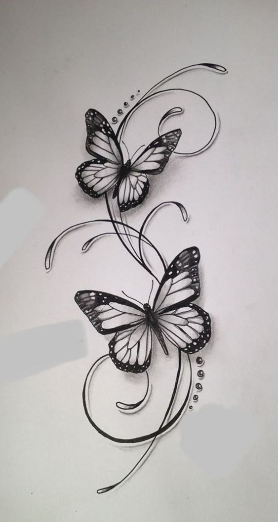 Butterflies – #beto #butterflies Butterflies – #be too #butterfly …..  #flowertattoos - flower tattoos