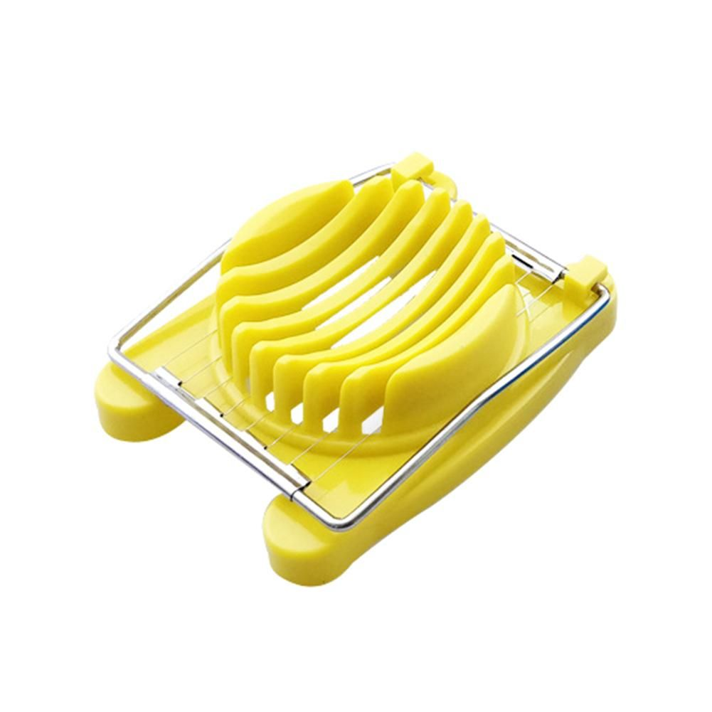 Creative Stainless Steel Egg Slicer Cutter Divider Home Kitchen Gadget Tool - Yellow