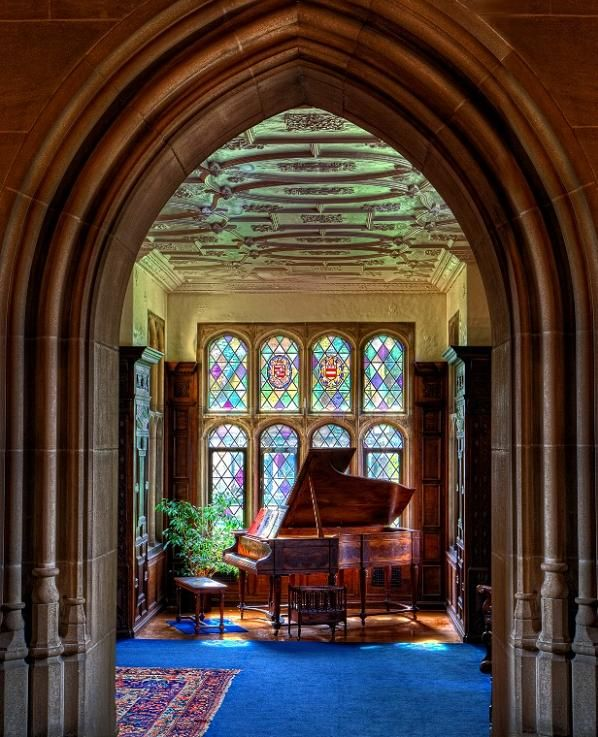 The music room - Lawrence Mansion at Hartwood Acres, Pittsburgh