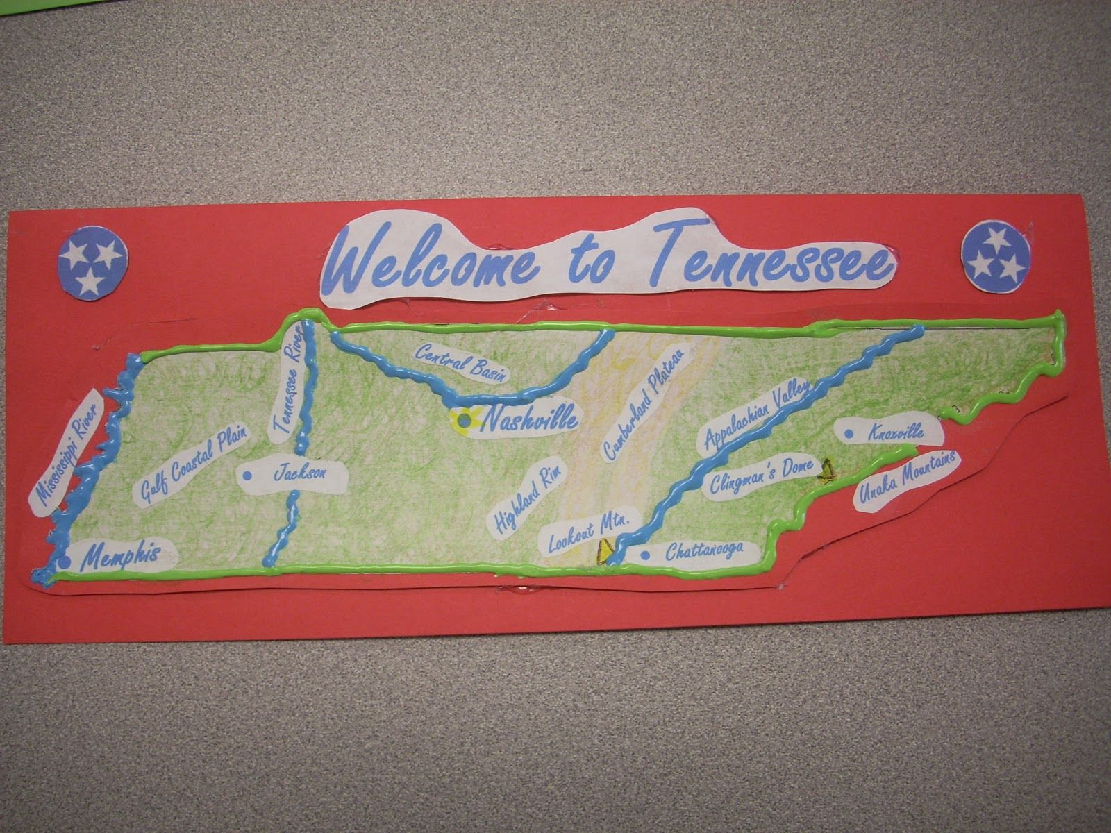 Landform Map Of Tennessee