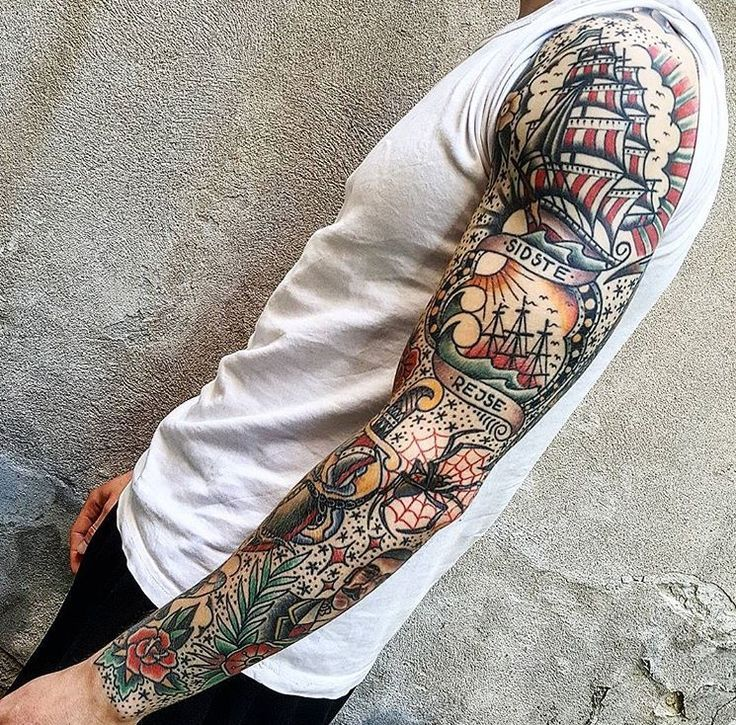Traditional Half Sleeve Tattoos