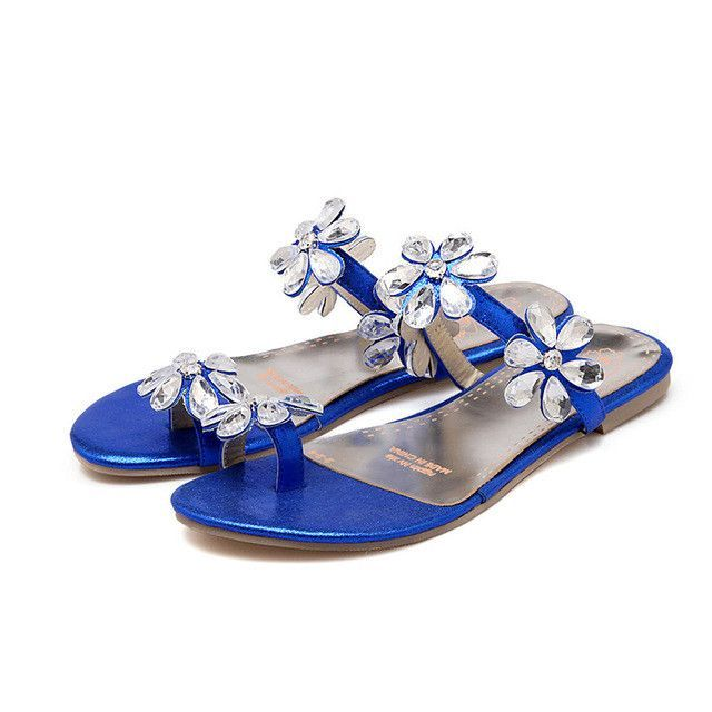 a7c6118c3d3ea Women s Crystal Flower Flip-flops