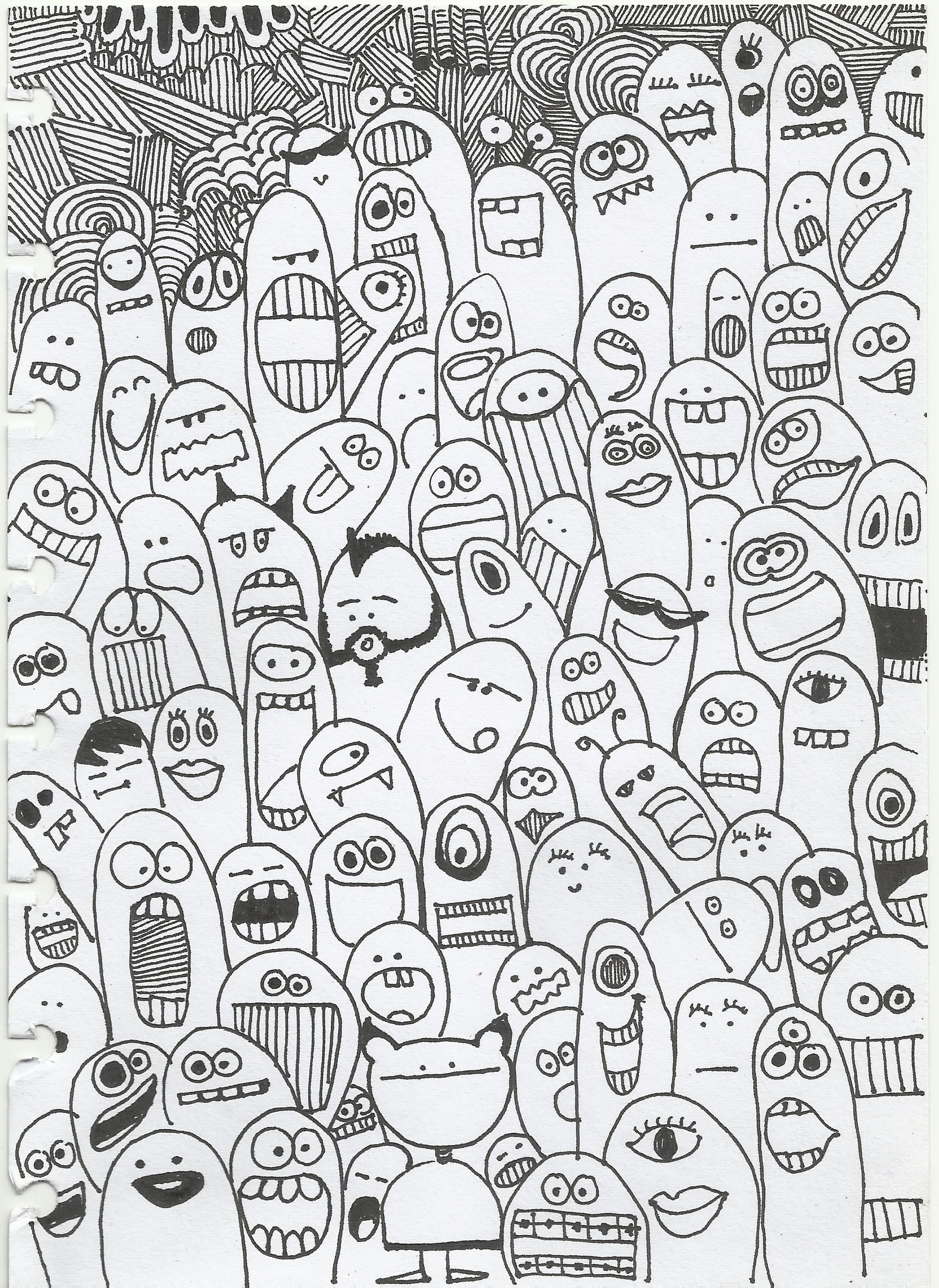 choose one for yourself doodling monster faces
