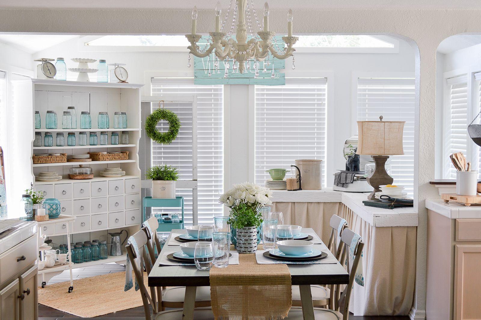 Farmhouse Style Decorating with Color Home decor, Decor