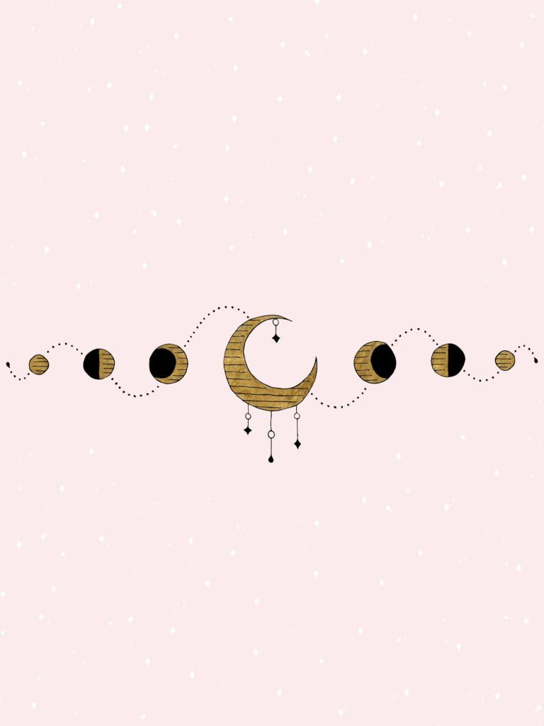 Moon Phase Desktop And Phone Wallpaper Witch Wallpaper Kawaii Wallpaper Phone Wallpaper Desktop wallpaper tumblr moon