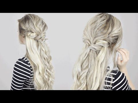 Half Up Half Down Twisted Crown Braid Quick Easy Amp Simple Youtube Braided Hairstyles Easy Half Up Hair Braided Half Up
