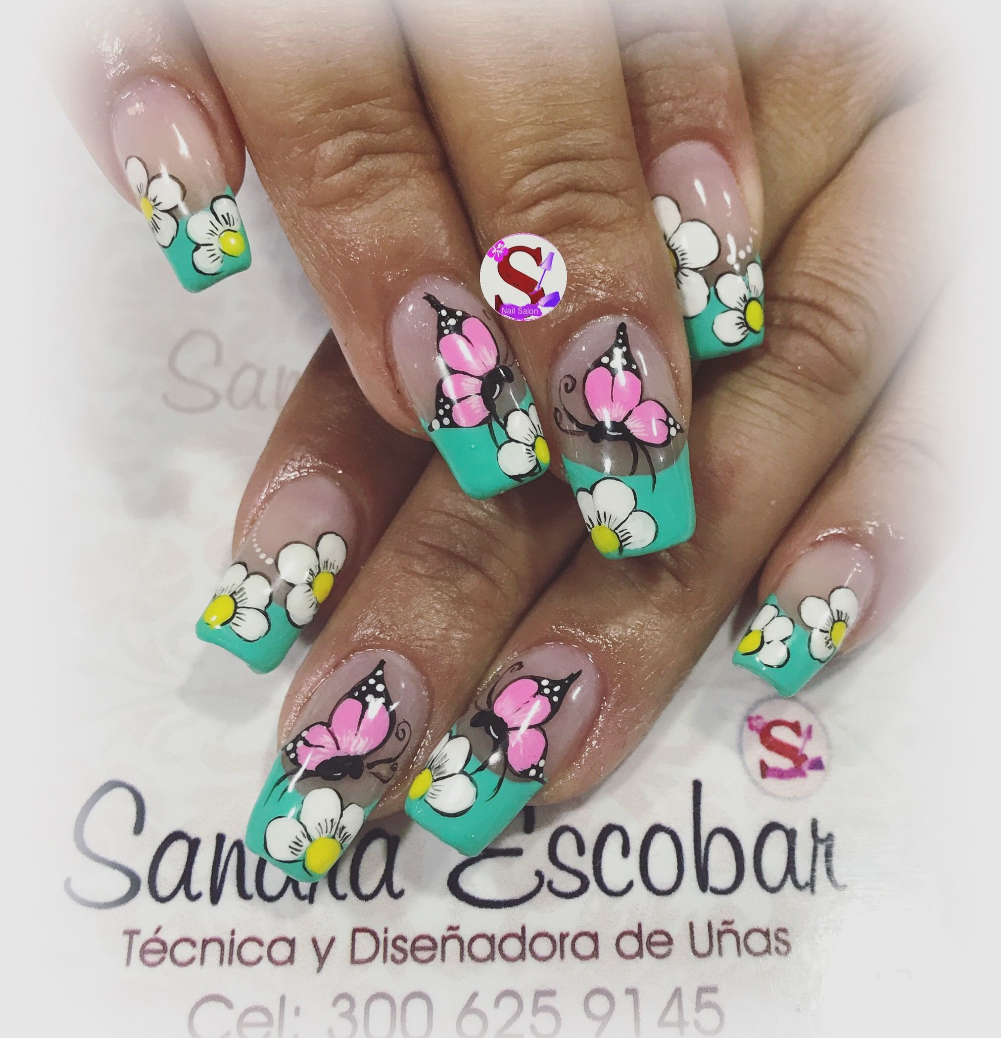 Pin de sandra escobar en u as mariposa pinterest u as - Disenos de unas con mariposas faciles ...