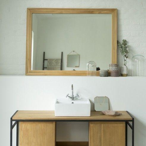 Spiegel aus Teak 120x90 Tona Kleiderschrank mit spiegel