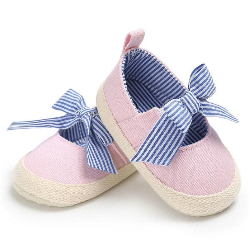 04168eaa08c42 Soft Soled Casual Cotton Princess Crib Shoes   Shoes For Baby Girls ...
