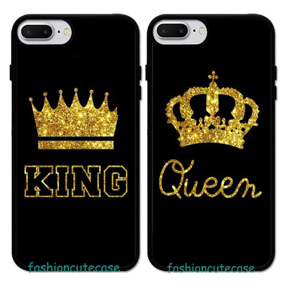 king \u0026 queen couple rubber phone case cover for iphone 5 6s 7 8 plus