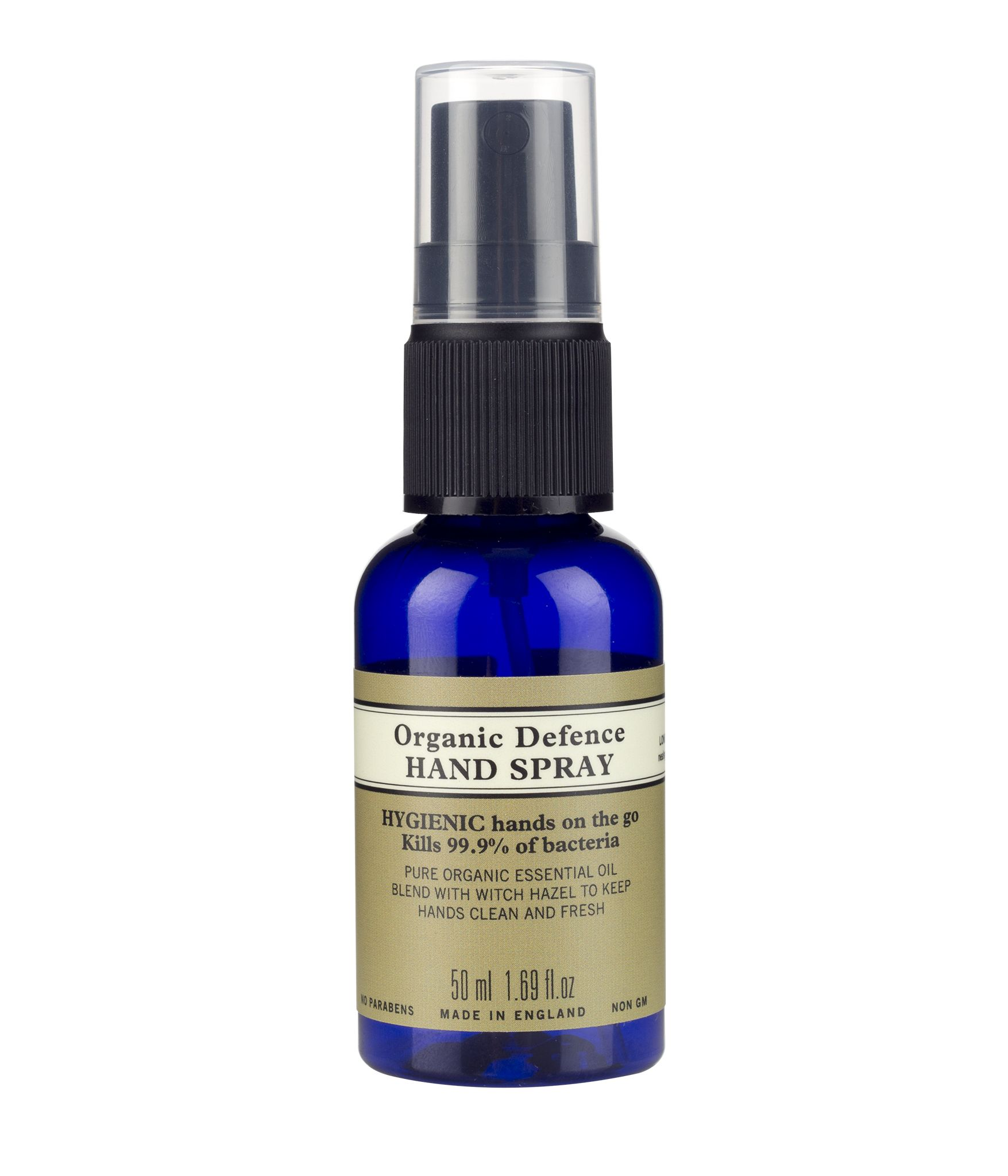 Organic Defence Hand Spray 50ml Hand Sanitizer Neals Yard
