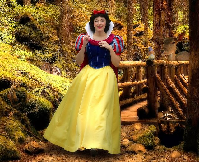Snow White With Her Forest Friends