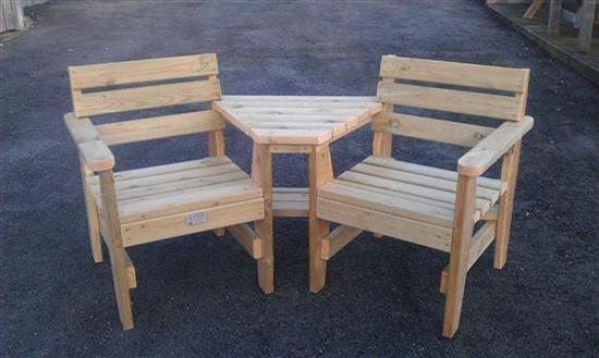 Duet Seat Made By Tavistock Woodland Sawmill Ltd
