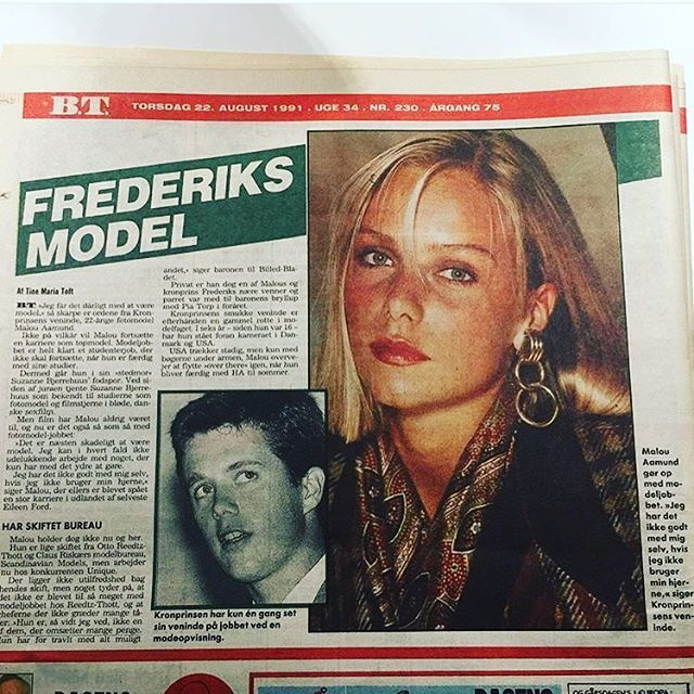 Once upon a time; 1991 when Frederik's girlfriend was the