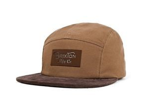 Brixton Cavern 5 Panel Hat Leather Strap Brown Leather Baseball Cap Hats For Men Five Panel Cap