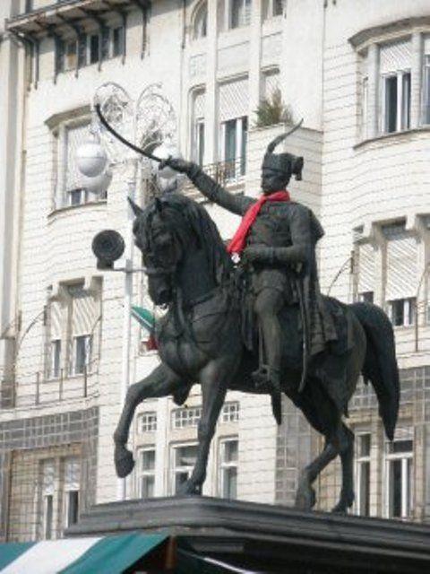 Statue Ban Jelacic By A D Fernkorn Zagreb Croatia