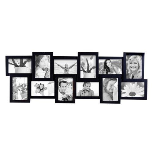 Adeco Pf0198 12 Opening Black Wooden Wall Hanging Collage Photo Picture Frames Holds Twelv With Images Picture Frame Sets Picture Frame Designs Signature Picture Frame