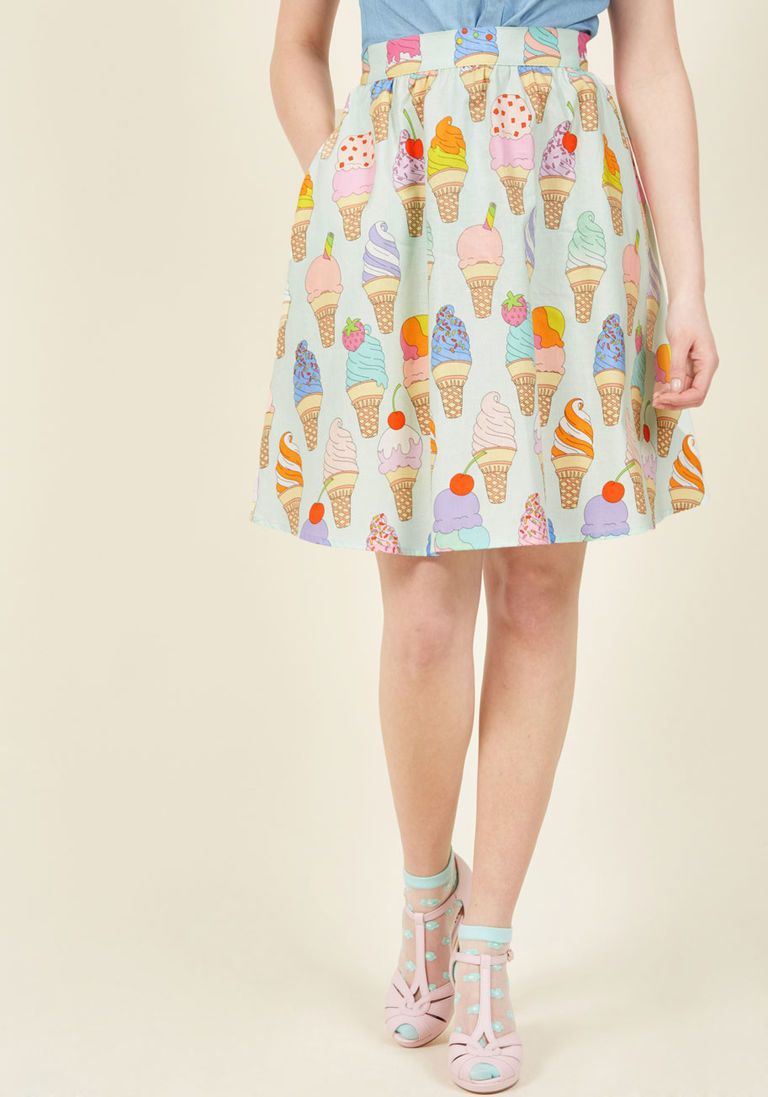 d0b5182b5a4 Fro-Yo Information Midi Skirt in 3X - A-line Skirt by Retrolicious from  ModCloth - Plus Sizes Available