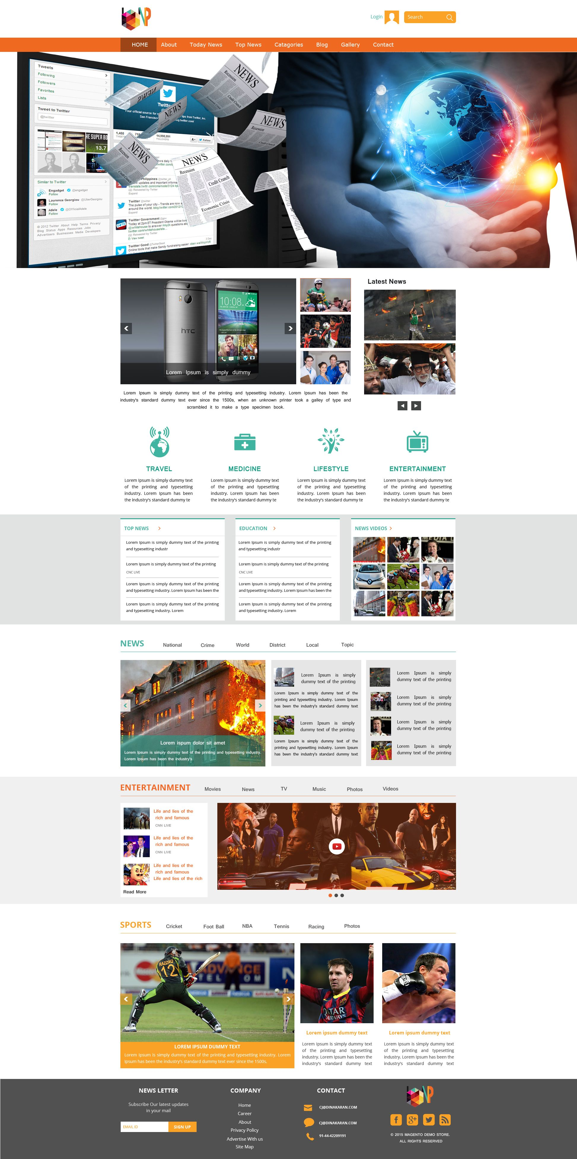 Sell365s news portal template one of the best website builder in sell365s news portal template one of the best website builder in india design and customize your own website with our free website templates maxwellsz