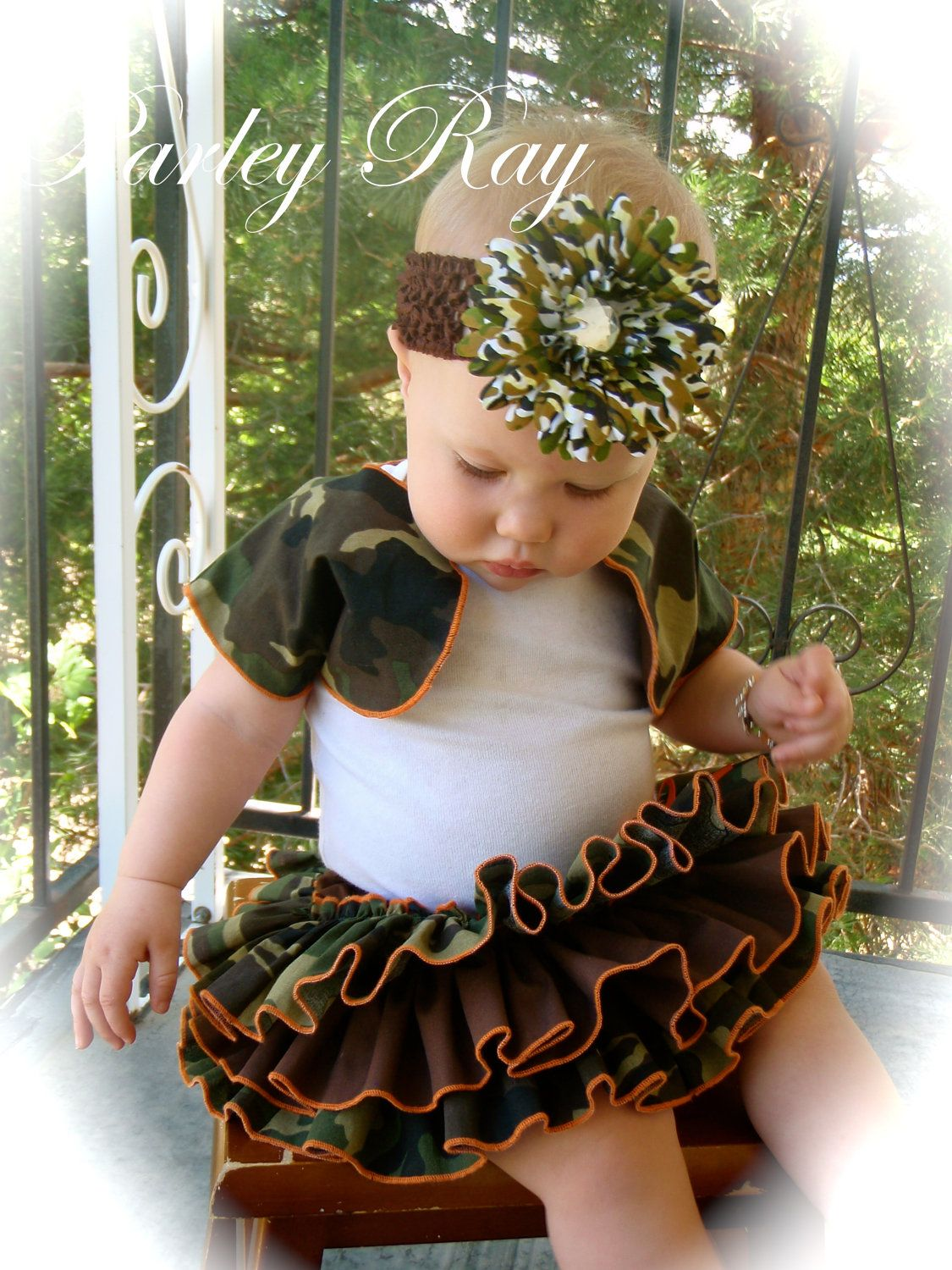Baby Girl Camo Clothes Beautiful Parley Ray Daddy's Girl Camo All Around Ruffled Skirt